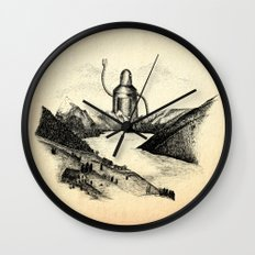 A Visitor From The North Wall Clock
