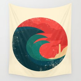 The wild ocean Wall Tapestry