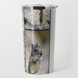 Chipmunk Collage Travel Mug