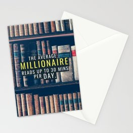 Read Like the Average Millionaire Stationery Cards