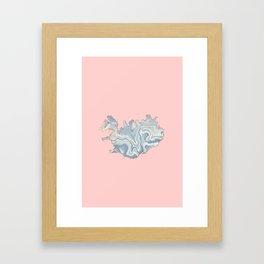 Iceland map Framed Art Print