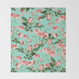 Rosy Life #society6 #decor #buyart Throw Blanket
