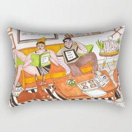 Living life in peace Rectangular Pillow