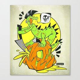 Croc-O-Ween Canvas Print