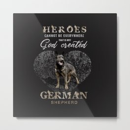 German Shepherd Dog  - GSD Metal Print