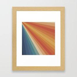 Retro 70s Sunrays Framed Art Print