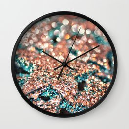 Starry Wishes and Bokeh Dreams...Coral Sea Wall Clock