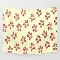 sakura Wall Tapestries featuring Sakura by Mnjars