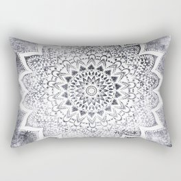 BOHO WHITE NIGHTS MANDALA Rectangular Pillow
