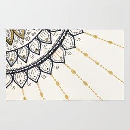 Mandala - Gold and Black Rug