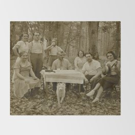 Picnic in the Woods Throw Blanket