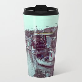Boats in the blue lagoon Travel Mug