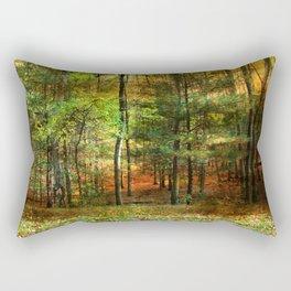 Autumn Sunset - In The Woods Rectangular Pillow