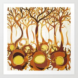 Neuronal Forest Art Print