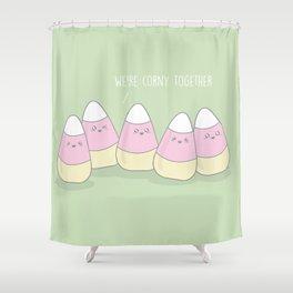 We're Corny Together #kawaii #halloween Shower Curtain