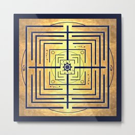 Knowledge Labyrinth Metal Print