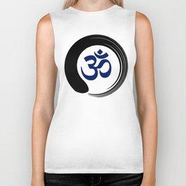 Namaste Zen Circle Meditation Prayer Ohm Aum Om Oum Peace Tai Chi Taiji Biker Tank