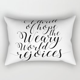 Quote calligraphy Christmas Decoration wall art print Christmas art holiday print Christian Christma Rectangular Pillow