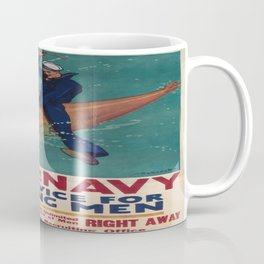 Vintage poster - Join the Navy Coffee Mug
