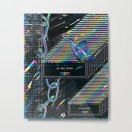 Error Tab Vaporwave Metal Print