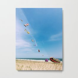 Kites flying at beach | Float on | Rehoboth Beach, DE Metal Print