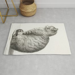 Sitting cat by Jean Bernard Rug