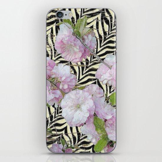 Funky Zebra & Prunus iPhone & iPod Skin