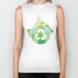 Green Planet Biker Tank