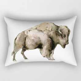 Bison, bison woodland Montana Wyoming state decor Rectangular Pillow
