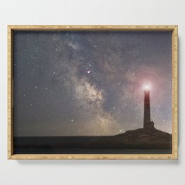 Milkyway over Thacher Island Serving Tray