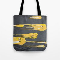 transformers Tote Bags featuring Transformers by Maddy Knuth