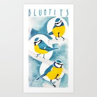 tits Art Prints featuring Tits by Bex Bourne
