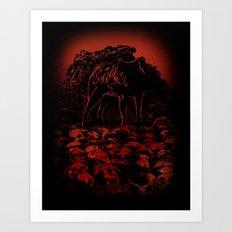 WOLFTHRONE Art Print
