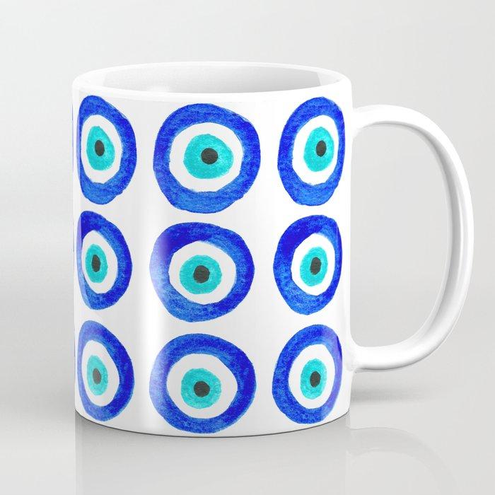Evil Eye Amulet Talisman - on white Kaffeebecher