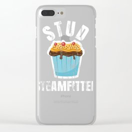 Funny Stud Muffin Steam Fitter Husband design Clear iPhone Case