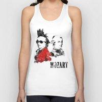 mozart Tank Tops featuring Mozart Punk by viva la revolucion