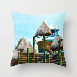 Conch House Marina in St. Augustine, Florida Throw Pillow