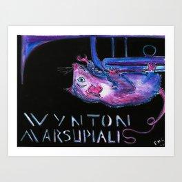Wynton Marsupialis Art Print