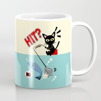 fishing Mugs featuring Fishing by BATKEI