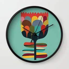 Flower Poet Wall Clock