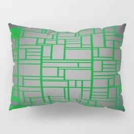 Teal Green Art Deco Pattern Pillow Sham