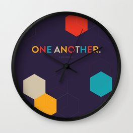 One Another Scripture Poster (1 John) Wall Clock