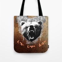 medicine Tote Bags featuring Bear Medicine by Cree Thunder