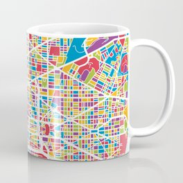Washington DC Street Map Coffee Mug