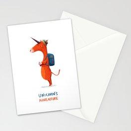 Unicorn's adventure Stationery Cards