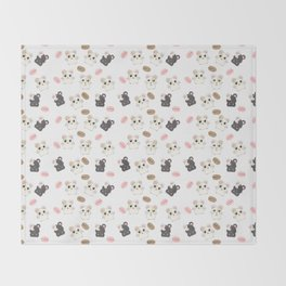 Hamsters and Macarons Throw Blanket