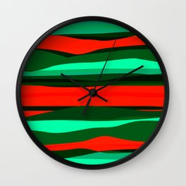 Waves 3 Wall Clock