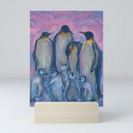 Emperor Penguins, Antarctic Winter Mini Art Print