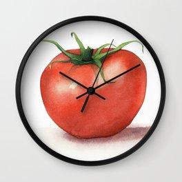 Tomato Watercolor Wall Clock