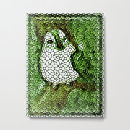 Little Bird In Tile Work Metal Print